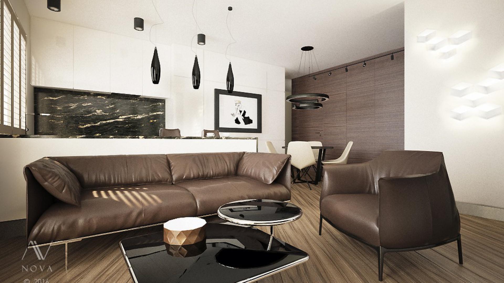 Proste formy, warto zestawić z designerskimi przedmiotami, które podkreślą nowoczesny styl naszego domu. Fot. Nova Wnętrza