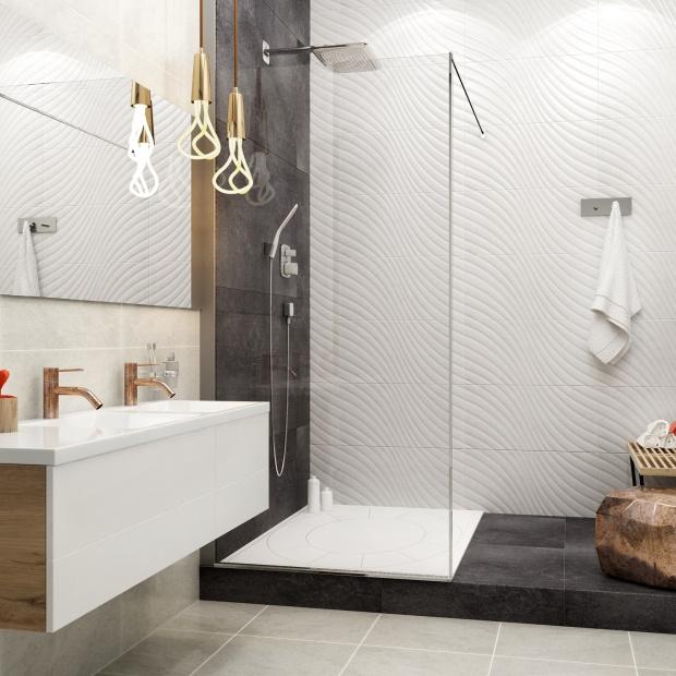 Modna biała łazienka: kolekcje płytek, które pokochasz
