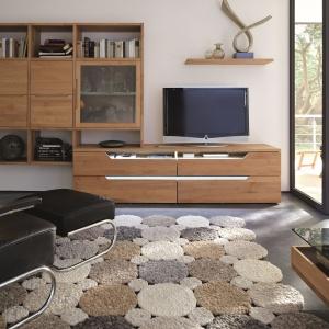 Carva Hulsta to kolekcja modułowa. Mnogość dostępnych elementów pozwala na aranżację salonu niezależnie od jego wielkości czy kształtu. Fot. Hulsta
