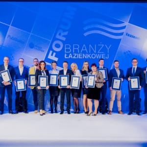 """Laureaci konkursu """"Łazienka - Salon Roku 2016""""."""