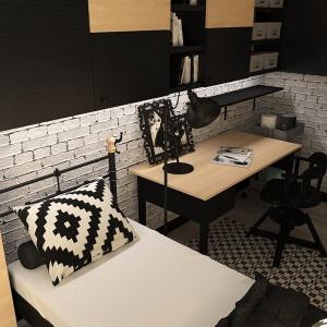 Biała cegła BJM Bricks w pokoju nastolatka, proj. Dorota Sobieraj. Fot. BJM Bricks