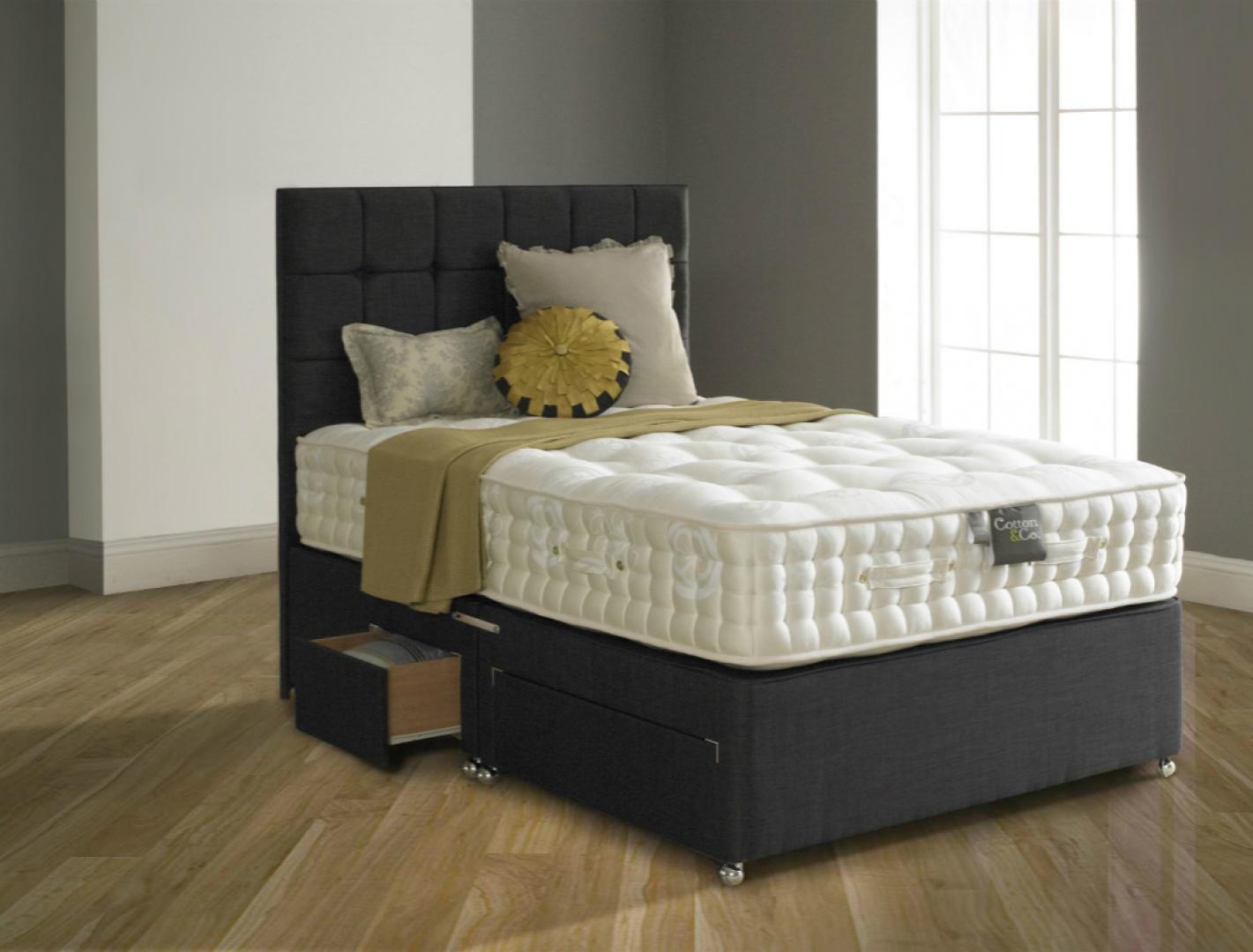 Łóżko powinno być przynajmniej o 10-15 cm dłuższe niż najwyższa osoba na nim śpiąca. Nie bez znaczenia jest także jego wysokość. Najwygodniejsze dla osób dorosłych są takie, które mają około 60 cm wysokości, licząc podstawę wraz z materacem. Fot. Cotton&co.