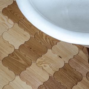 Klepka parkietowa Pattern o zdobnej formie. Fot. Dudzisz Wood and Floor