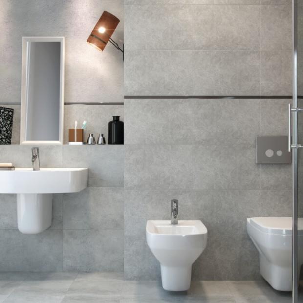 Płytki do łazienki w stylu loft