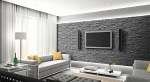 Ciekawą alternatywę dla farb, tapet czy tynków strukturalnych stanowi kamień dekoracyjny, który coraz chętniej stosujemy jako okładziny ścian salonu. Spory jest także wybór rodzajów, kolorów i faktur.