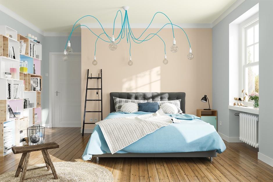 Niebagatelne znacznie dla optycznego powiększenie wnętrza mają jasne kolory ścian: na zdj. kolory farb z trendu Aquatic firmy Magnat. Fot. Magnat