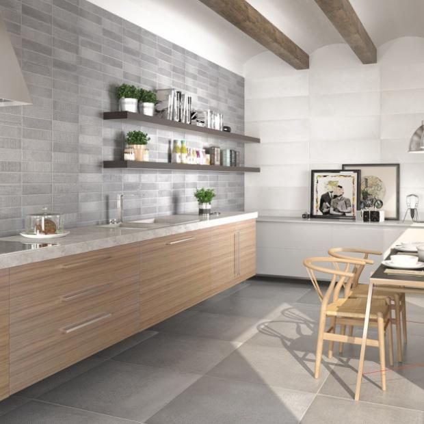 Pod ogi i ciany w kuchni glazura terakota - Ceramica para cocinas ...