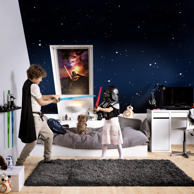 Pomysł na pokój dziecka: rolety z bohaterami Gwiezdnych Wojen