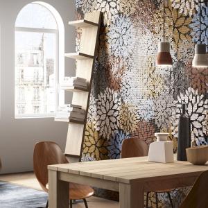 Dekoracja ścian: przepiękne kwiatowe mozaiki