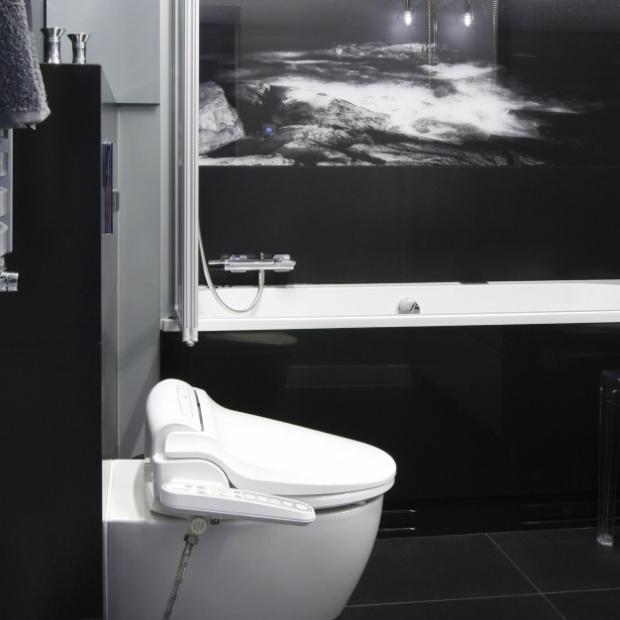 Projekt małej łazienki z biobidetem