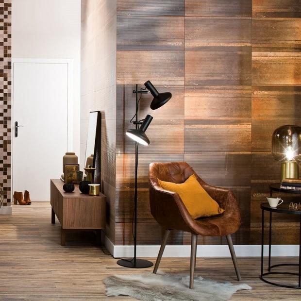Płytki w salonie: 5 pomysłów na ściany