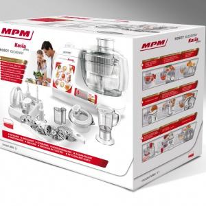 """Dwudziestoletnia obecność robota kuchennego """"Kasia"""" na rynku AGD to okazja na prezentację jego nowej wersji. Na konsumentów czeka udoskonalony mechanizm urządzenia, lepsza wydajność oraz nowoczesne wzornictwo. Robot kuchenny Kasia Plus MRK-11"""