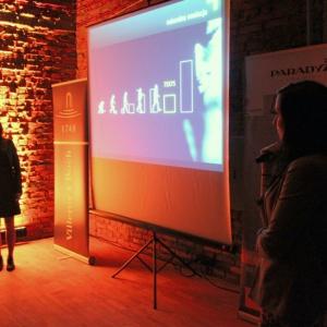 Partnera Głównego, Ceramikę Paradyż reprezentowały Anna Zalas oraz Katarzyna Pardiak-Borowska, które opowiedziały o swoich inspiracjach przy tworzeniu kolekcji płytek ceramicznych oraz pokazały najnowsze kolekcji Ceramiki Paradyż w formatach 75x75 cm.