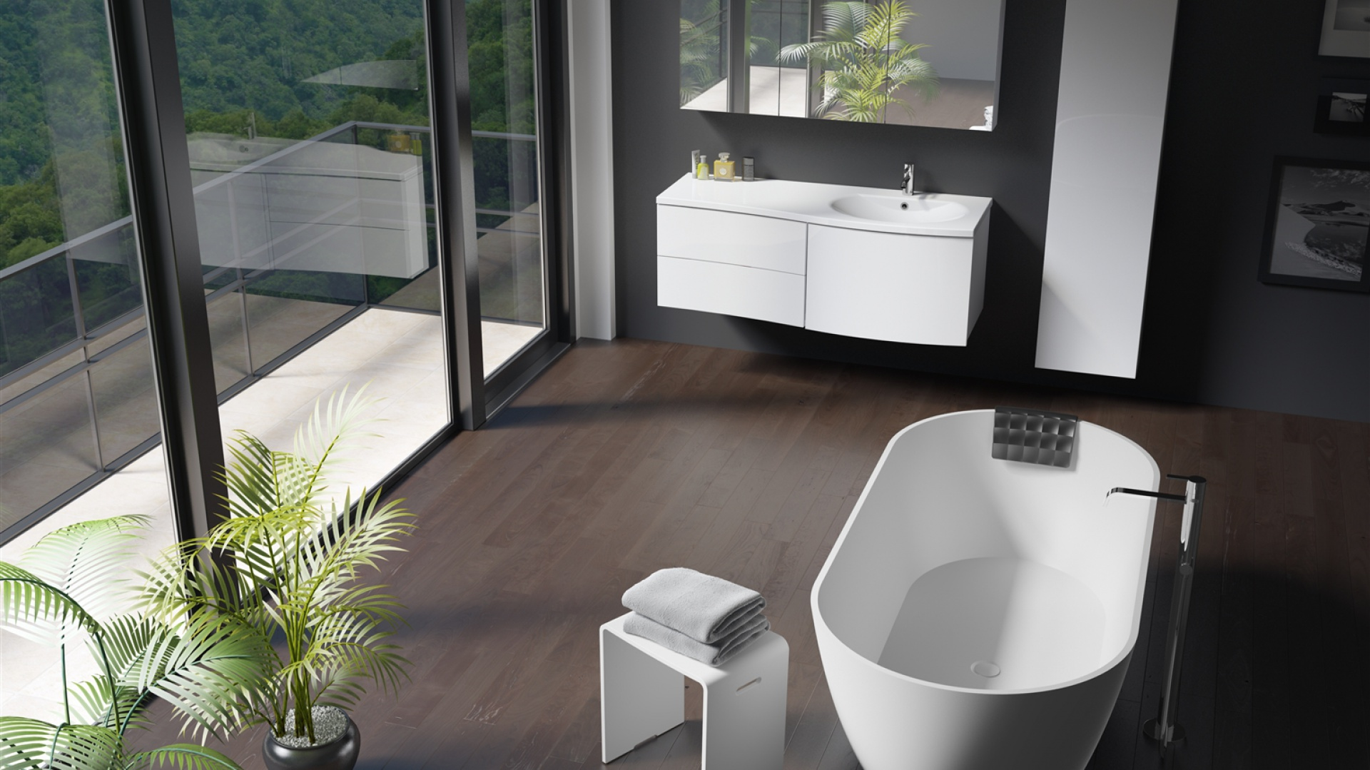W takiej wannie kąpiel z olejkami będzie samą przyjemnością. Modem marki RIHO, SolidSurface, Bilbao 170 FIN. Fot. Riho.
