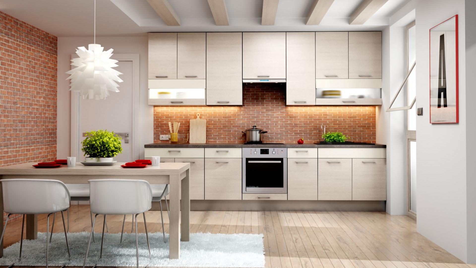 KAMduo XL to idealne rozwiązanie w przypadku kuchni jednorzędowych, pozwala bowiem do maksimum wykorzystać dostępną powierzchnię. Można zagospodarować ją pojedynczymi, dużymi szafkami albo dwoma rzędami mniejszych o różnej głębokości.  Fot. KAM