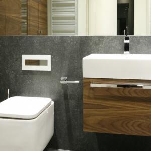 Projekt łazienki z zabudową pralki