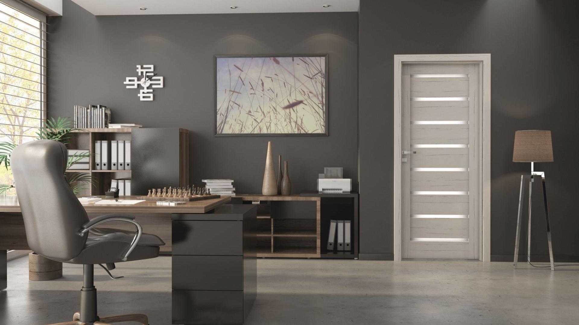 Kolekcja Linea Forte pozwala z łatwością dopasować drzwi do wnętrza o jasno sprecyzowanej kolorystyce. Bogaty wybór oklein, wśród których znajdziemy kasztan, dąb, heban czy cedr, daje duże możliwości aranżacyjne. Fot. Invado Linea Forte.