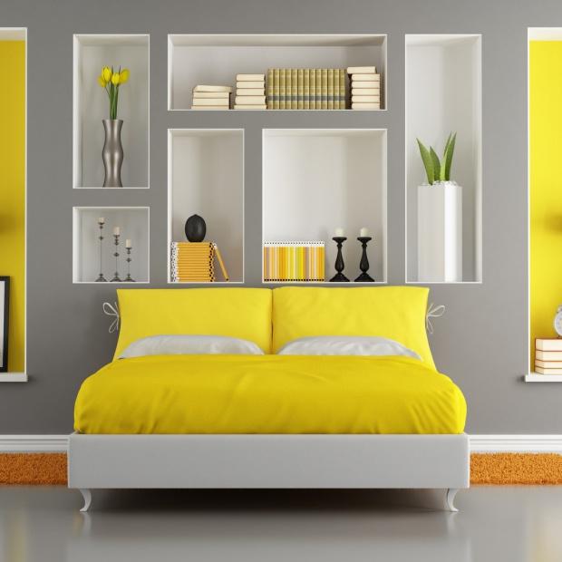 Modna sypialnia: wybierz energetyzującą żółć