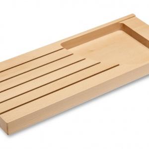 Do dyspozycji mamy bowiem praktyczne organizery KNIFI – blok na noże z 5 przegrodami, który zapobiega niszczeniu ostrzy oraz wnętrza szuflady, a także pozwala na bezpieczne przechowywanie ostrych przedmiotów. Fot. GTV