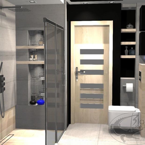 Łazienka w industrialno-minimalistycznym stylu