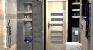 Szukasz pomysłu na wnętrze w stylu industrialnym? Sprawdź projekt niewielkiej łazienki w bloku.