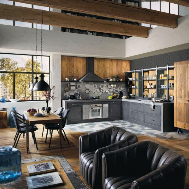 Kuchnia w stylu loft for W loft