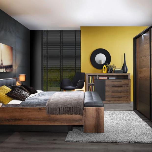 Przytulna sypialnia: wybierz drewno w ciemnym wybarwieniu
