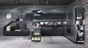 Obłe bądź faliste formy mebli kuchennych są przyjemne dla oka i dodają aranżacji kuchni dynamiki.