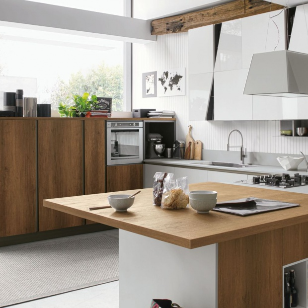 Modna kuchnia: wybierz kolory drewna