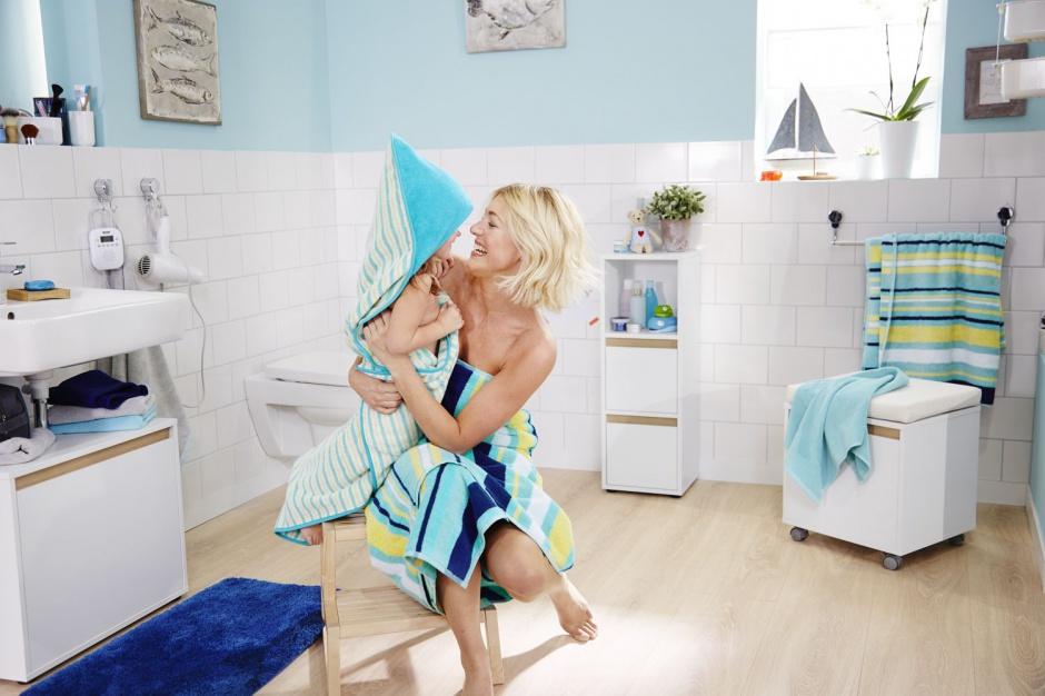 Ręcznik dziecięcy z kapturem z puszystej, chłonnej tkaniny. Cena: ok. 65 zł. Fot. Tchibo
