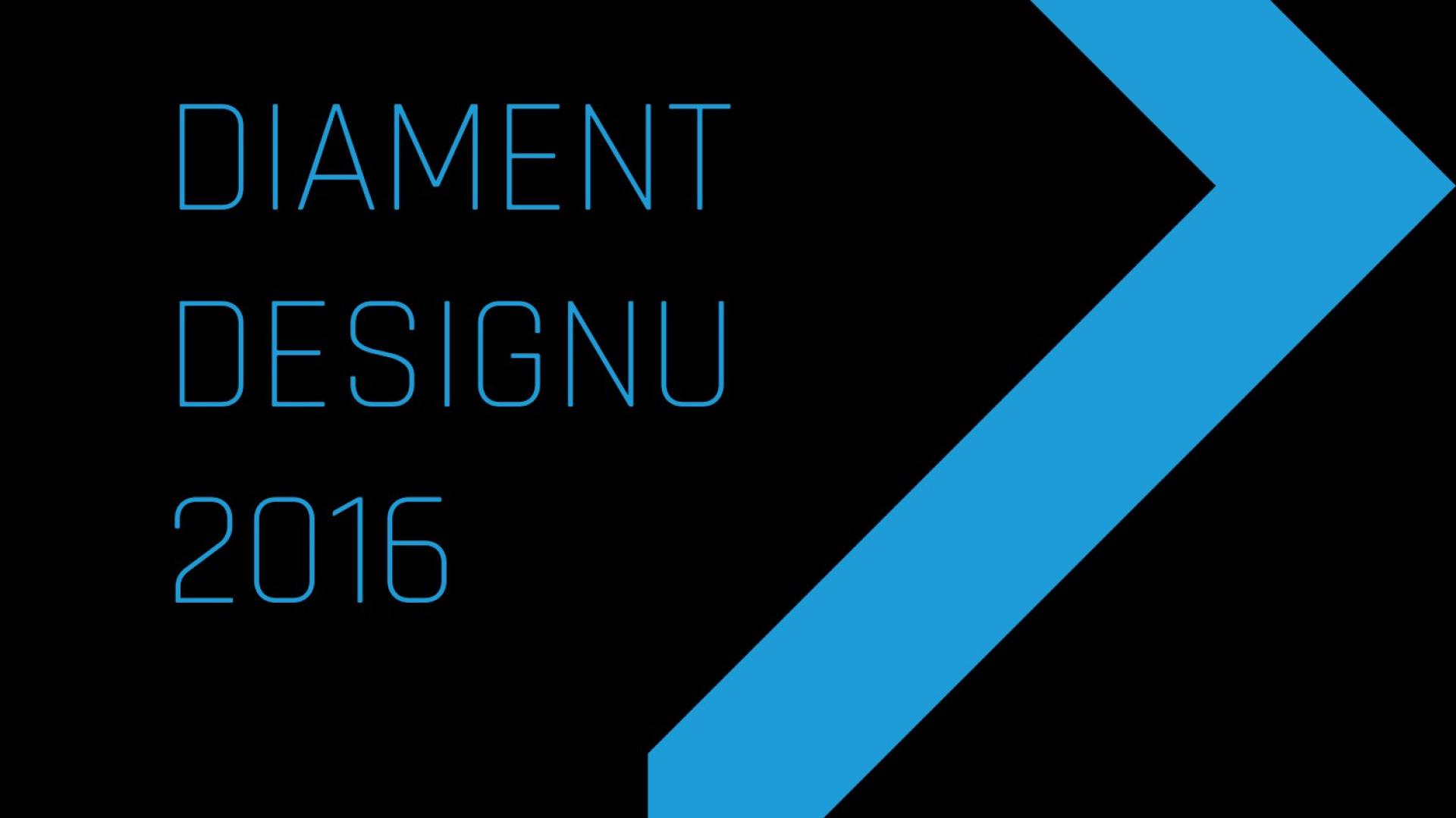 Plakat prasowy konkursu Diament Designu
