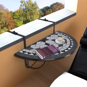 Stolik pasujący nawet na najmniejszy balkon: zawiesza się go na balustradzie. Fot. Okazje.info