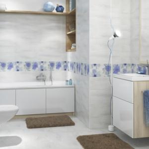 Najmodniejsze płytki do łazienki: jak malowane akwarelami