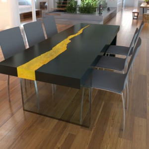 Designerskie meble - stół inspirowany naturą