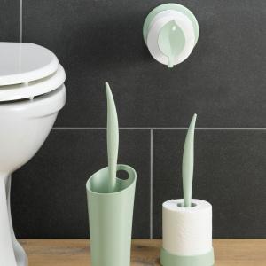 Seria akcesoriów łazienkowych Sense Koziol jest wykonana z odnawialnego tworzywa pochodzenia roślinnego; inspirowana kształtem liścia. Fot. Koziol