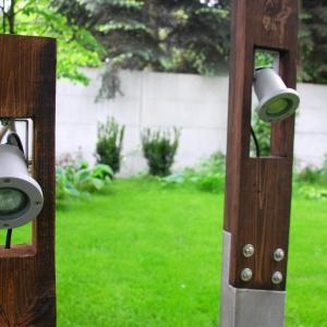 Oświetlenie w ogrodzie: niezwykła lampa z betonu
