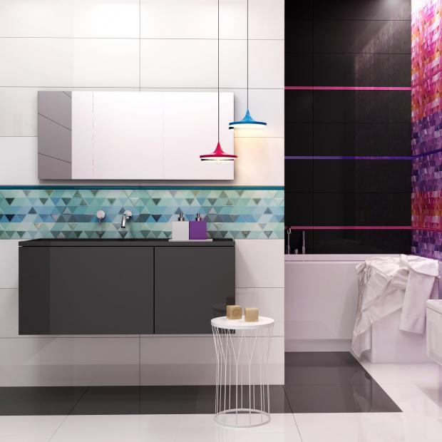 3 pomysły na łazienkę w czerni i bieli