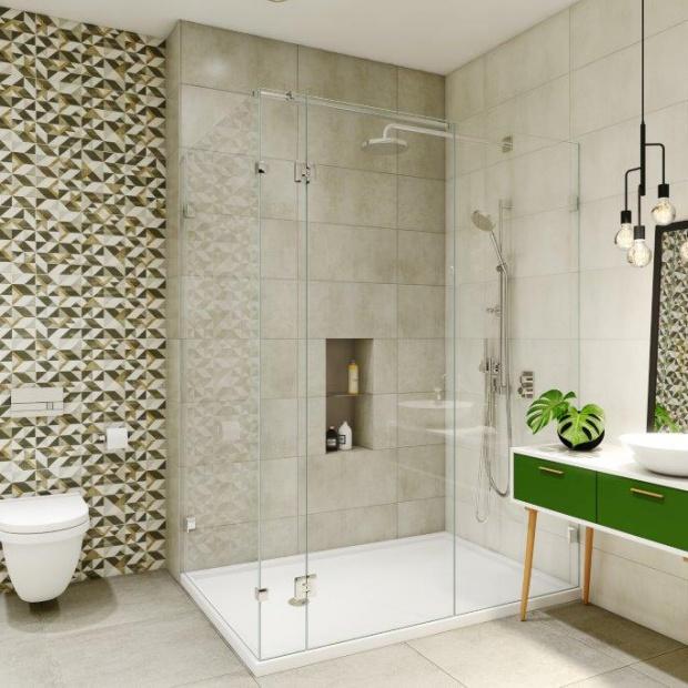 Nowości do łazienki – płytki z geometrycznym motywem