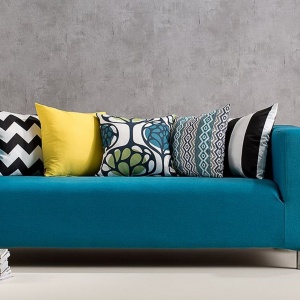 Pokrowiec na sofę Klippan, tkanina Etna. Fot. Dekoria