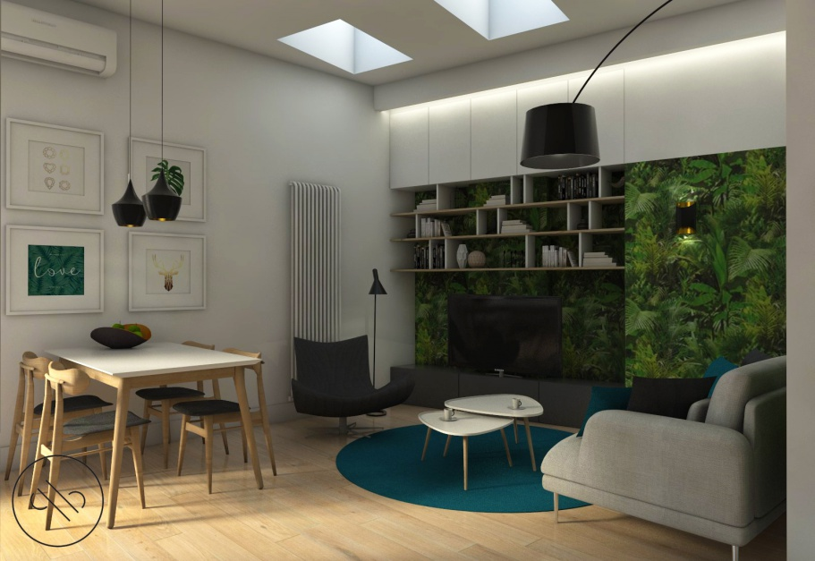 Natomiast drugi to styl nowoczesny, z którego meble są dostępne niemal w każdym sklepie. Jest on na tyle uniwersalny, że każdy intuicyjnie czy z pomocą katalogu i zaproponowanych tam gotowych rozwiązań, może umeblować w całości swoje mieszkanie, od łazienki poprzez salon, hol, kuchnię, a nawet balkon. Fot. Archiwum projektantki