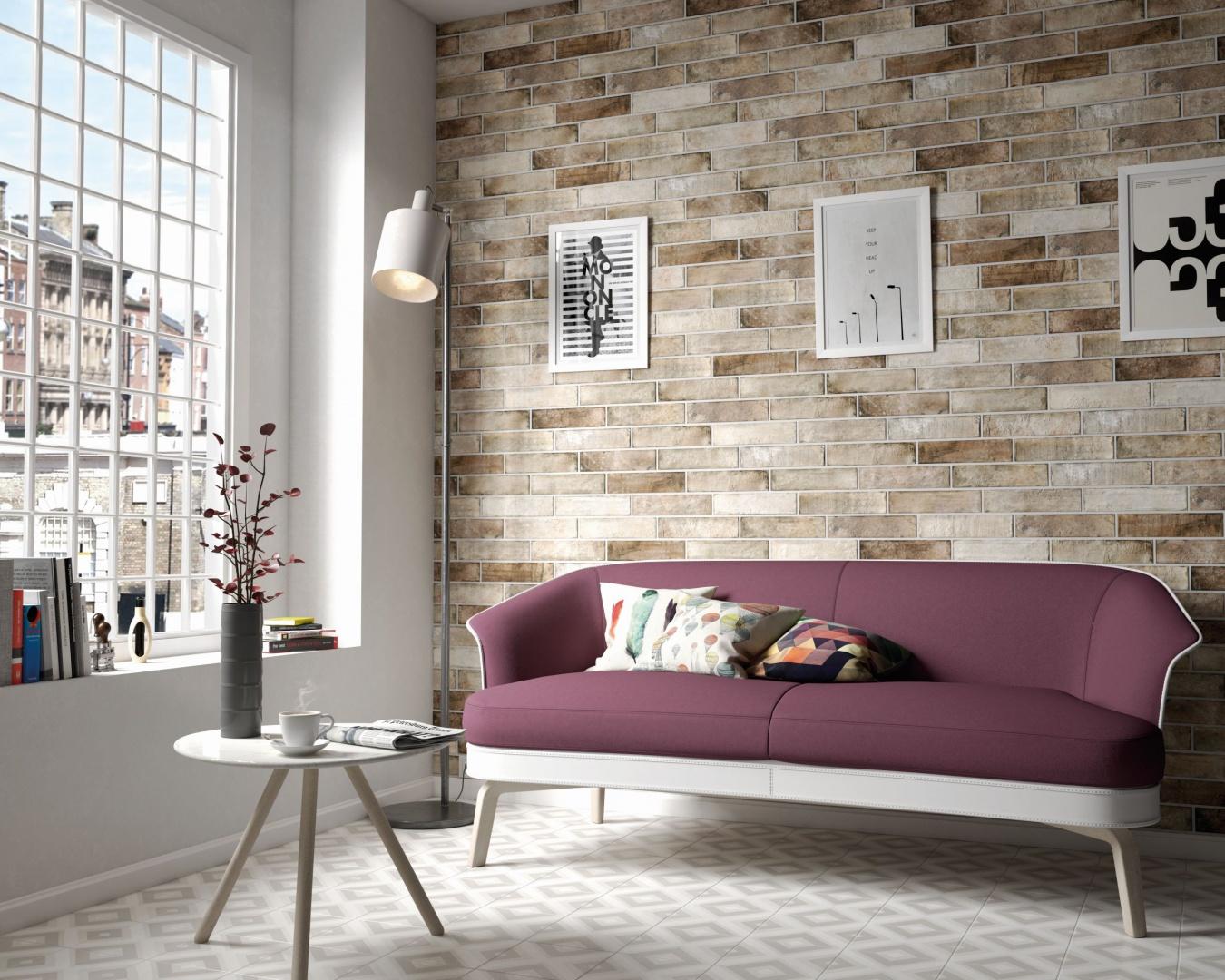 Płytki ceramiczne z kolekcji Brick Equipe doskonale zastąpią tradycyjną cegłę. Dostępne w wielu naturalnych kolorach. Na zamówienie. Fot. Equipe