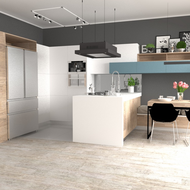 Kuchnia z dużą lodówką - tak ją zaprojektujesz