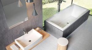 Zabawa formą, niebanalna linia, a w efekcie możliwość dowolnego komponowania zestawów to atutu nowej kolekcji wyposażenia łazienek.
