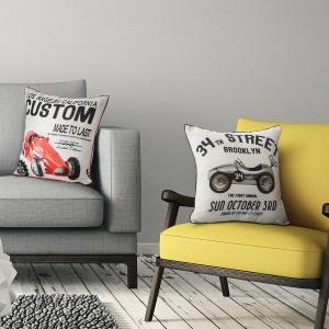 W stylu Pop Art sprawdzą się szarości ożywione żółcią i czerwienią. Fot. Eurofirany