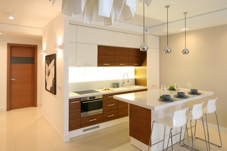 Dwukolorowa zabudowa Modna kuchnia wybierz biel z drewnem  Strona 10 -> Kuchnia Biel Cegla