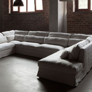 Letnie leniuchowanie: sofa w lnianej tkaninie