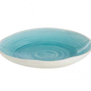 """Talerz dekoracyjny """"Azul"""",  Ø 44, wys. 6 cm Wewnątrz lazurowy, na zewnątrz biały. Ten wykonany z ceramiki talerz francuskiej marki Jolipa wyróżnia się naturalną elegancją i przywodzi na myśl najpiękniejsze z mórz. Cena: 219 zł, fot. Westwing.pl"""