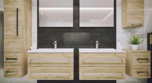 Kupując meble łazienkowe do wyboru mamy modele dostępne w różnych kolorach i fakturach. Zdecydowanie atrakcyjnym wizualnie rozwiązaniem są meble z frontami z rysunkiem drewna.
