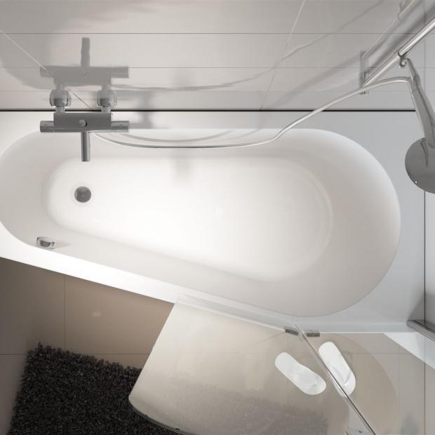 Mała łazienka: wybierz wannę do narożnika