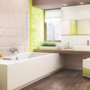 Modna łazienka - wybierz płytki w jasnych kolorach